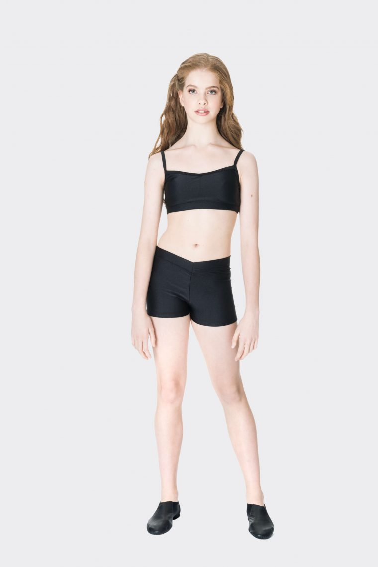 Nylon hot shorts Black