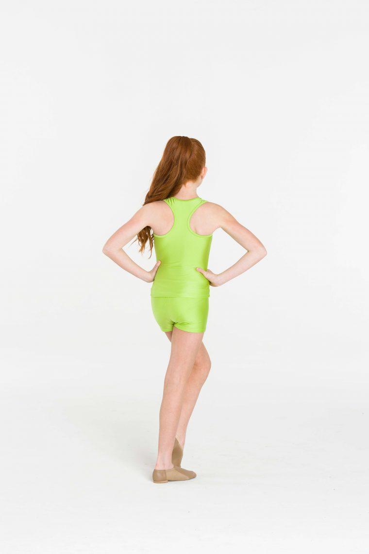 Nylon hot shorts Lime
