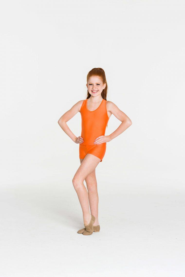 Nylon hot shorts Orange