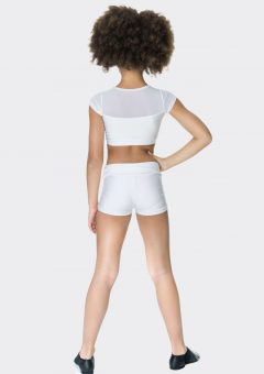 Nylon hot shorts White