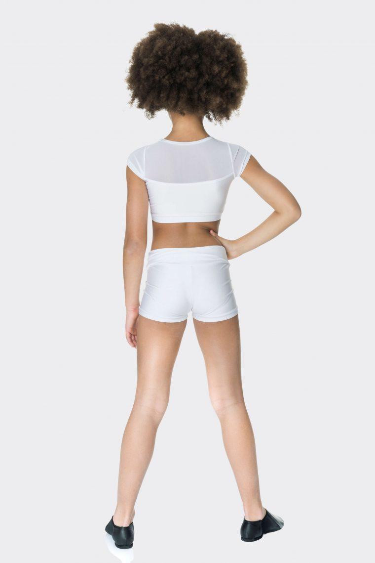 Nylon hot shorts White
