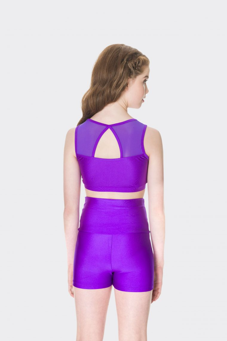 High waisted shorts Purple