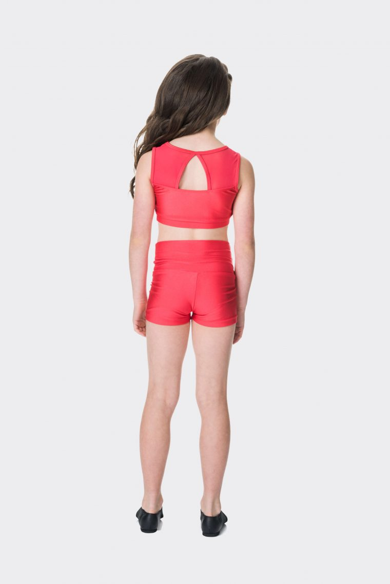 High waisted shorts Red