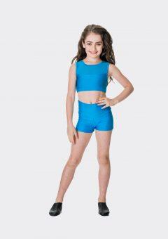 High waisted shorts Turquoise