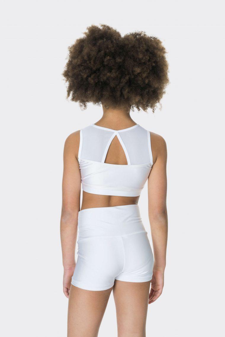 High waisted shorts White