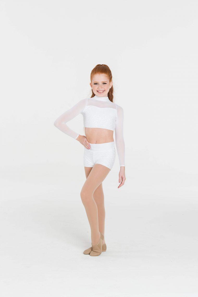 attitude sequin shorts white