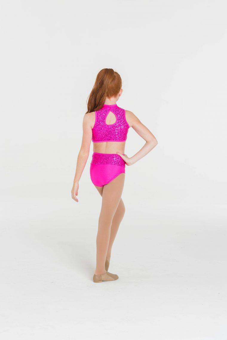 Sequin hightop briefs Hot pink