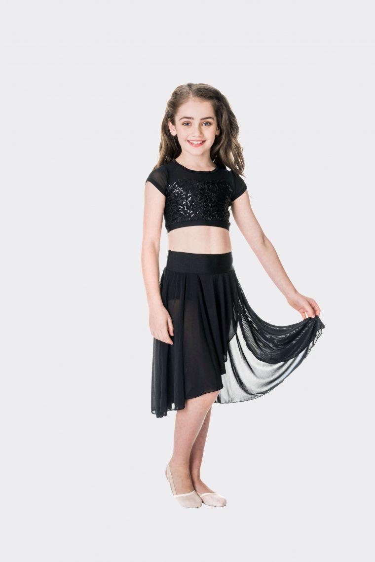 inspire mesh skirt black