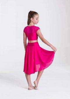 inspire mesh skirt fuchsia