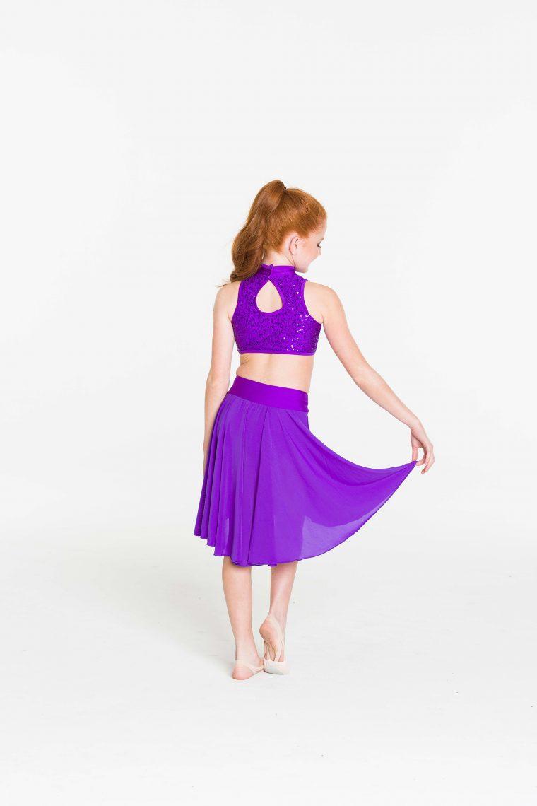 inspire mesh skirt purple