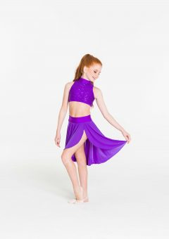 inspire mesh skirt purple
