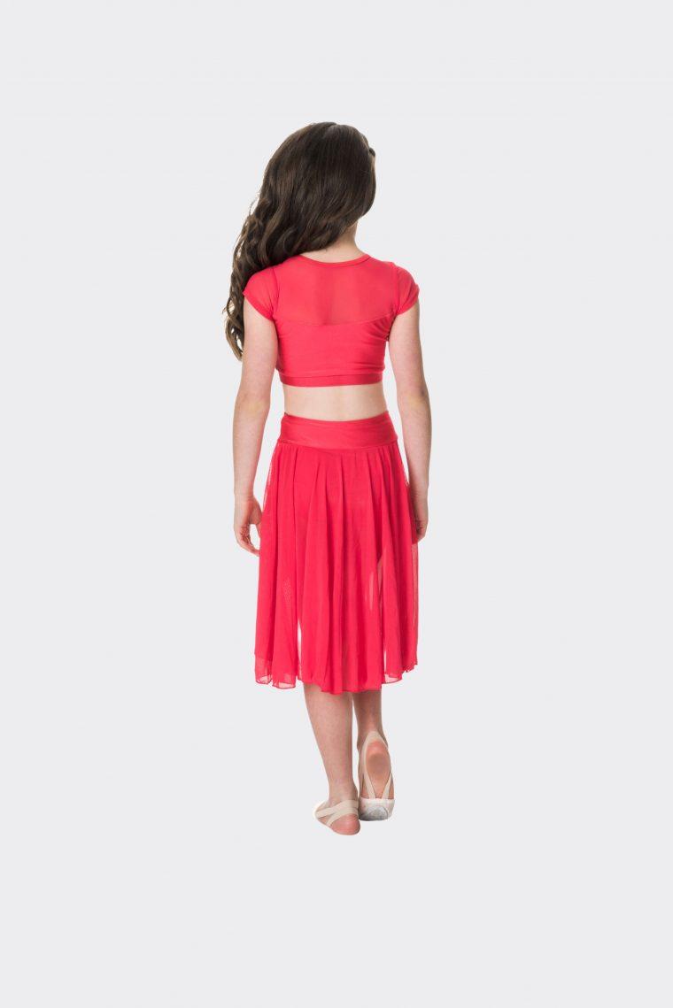 inspire mesh skirt red