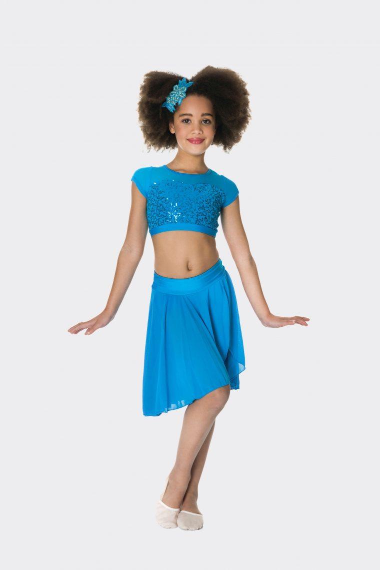 inspire mesh skirt turquoise