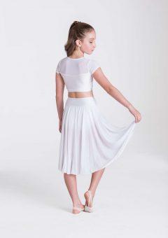 inspire mesh skirt white