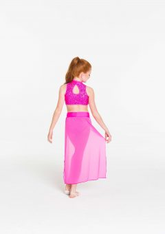 synchronise contemporary skirt hot pink