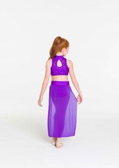 synchronise contemporary skirt purple