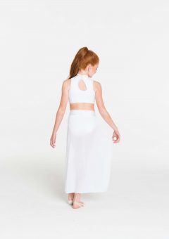 synchronise contemporary skirt white