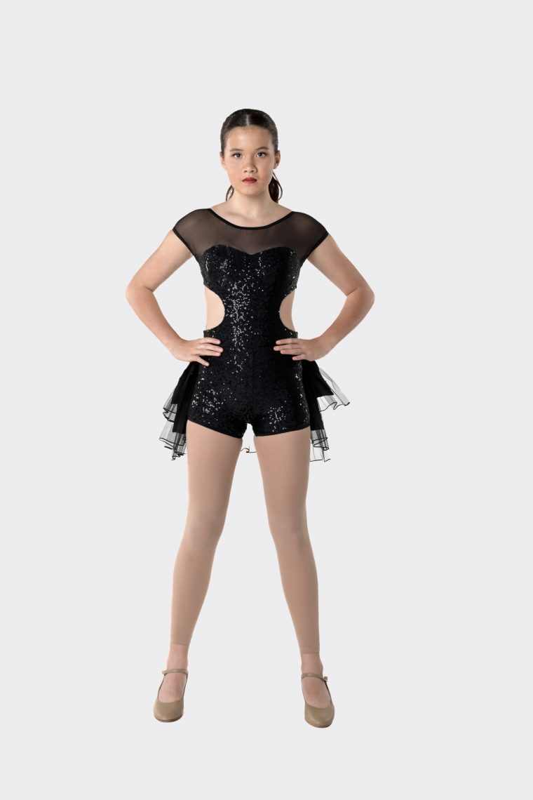 stepping out detachable bustle black