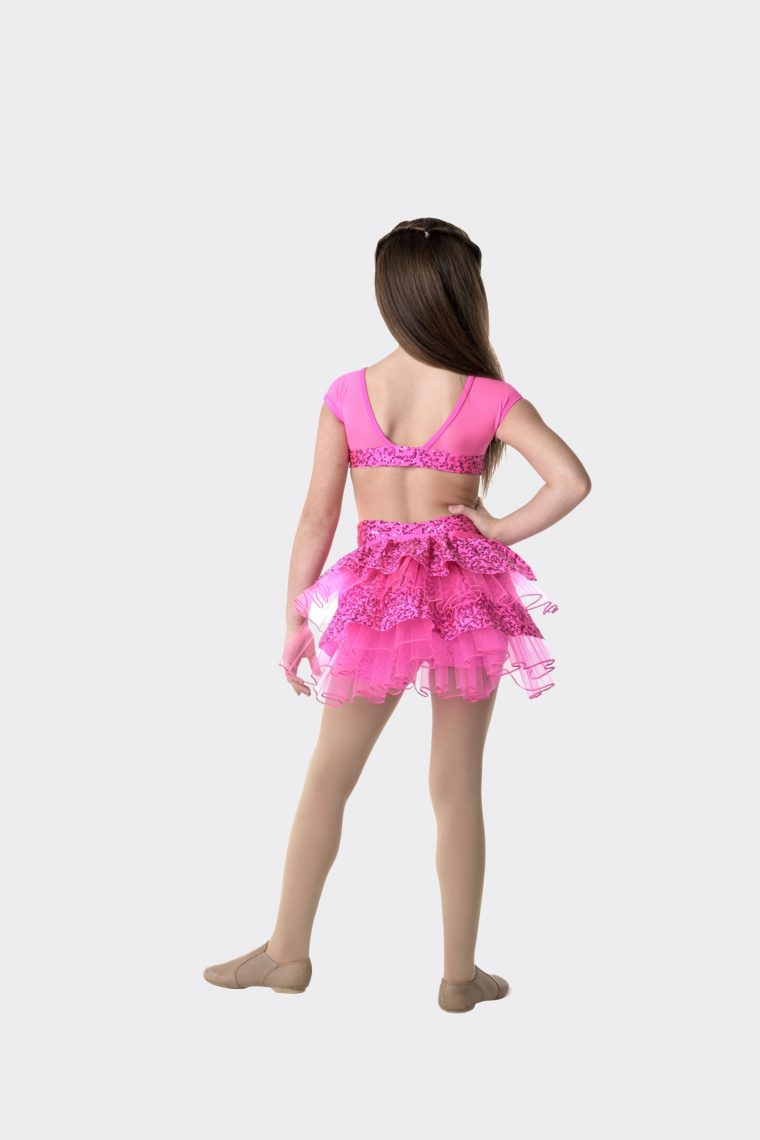 stepping out detachable bustle hot pink