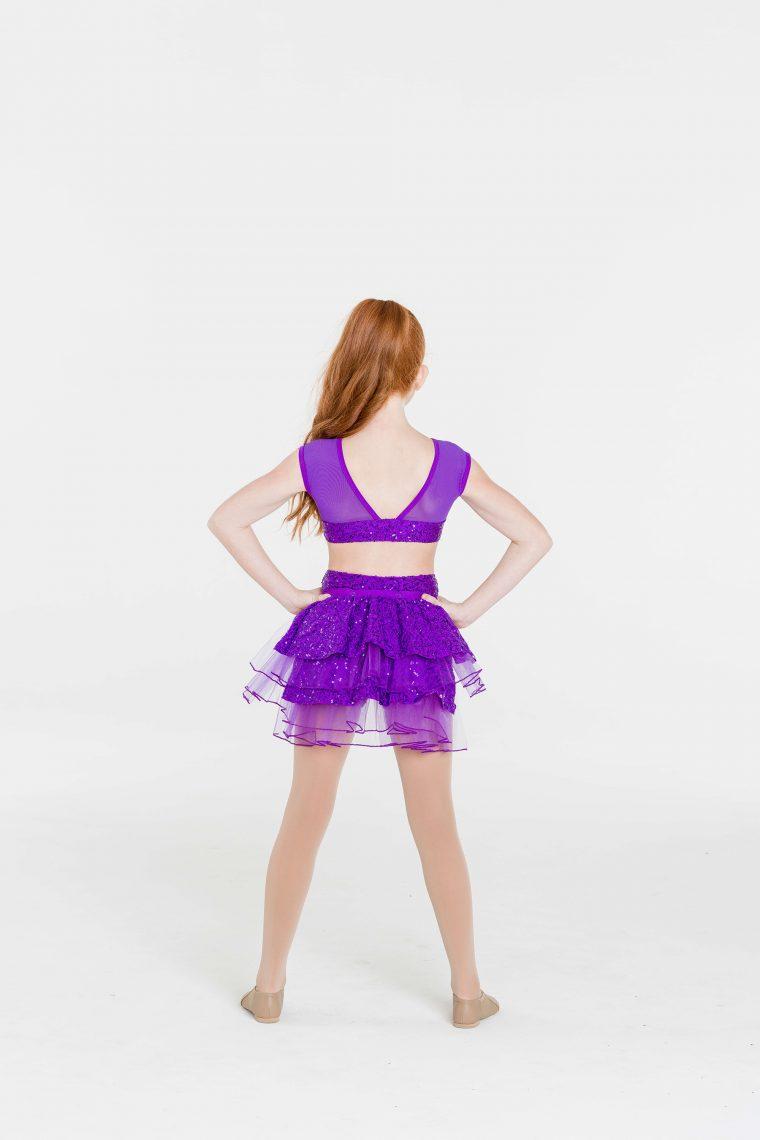 stepping out detachable bustle purple