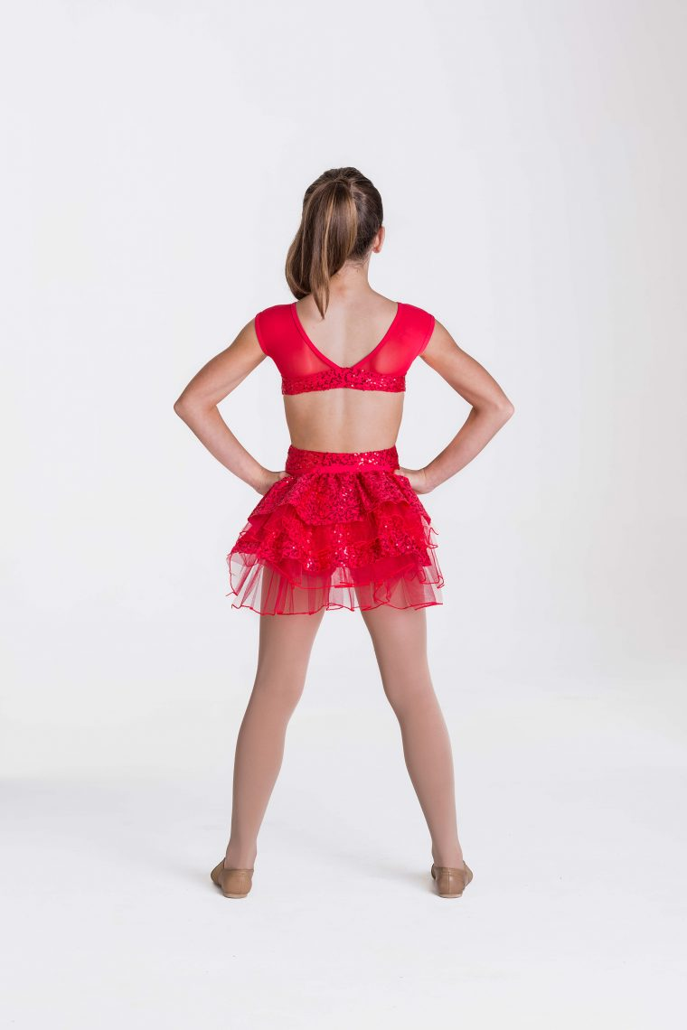 stepping out detachable bustle red