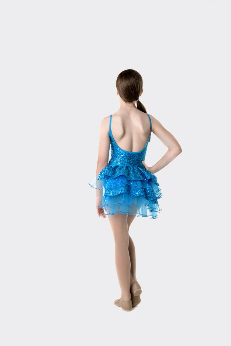 stepping out detachable bustle turquoise