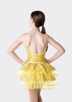 stepping out detachable bustle yellow