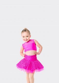 skater skirt hot pink