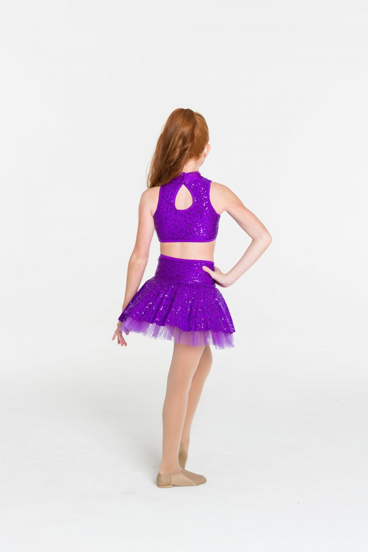 skater skirt purple