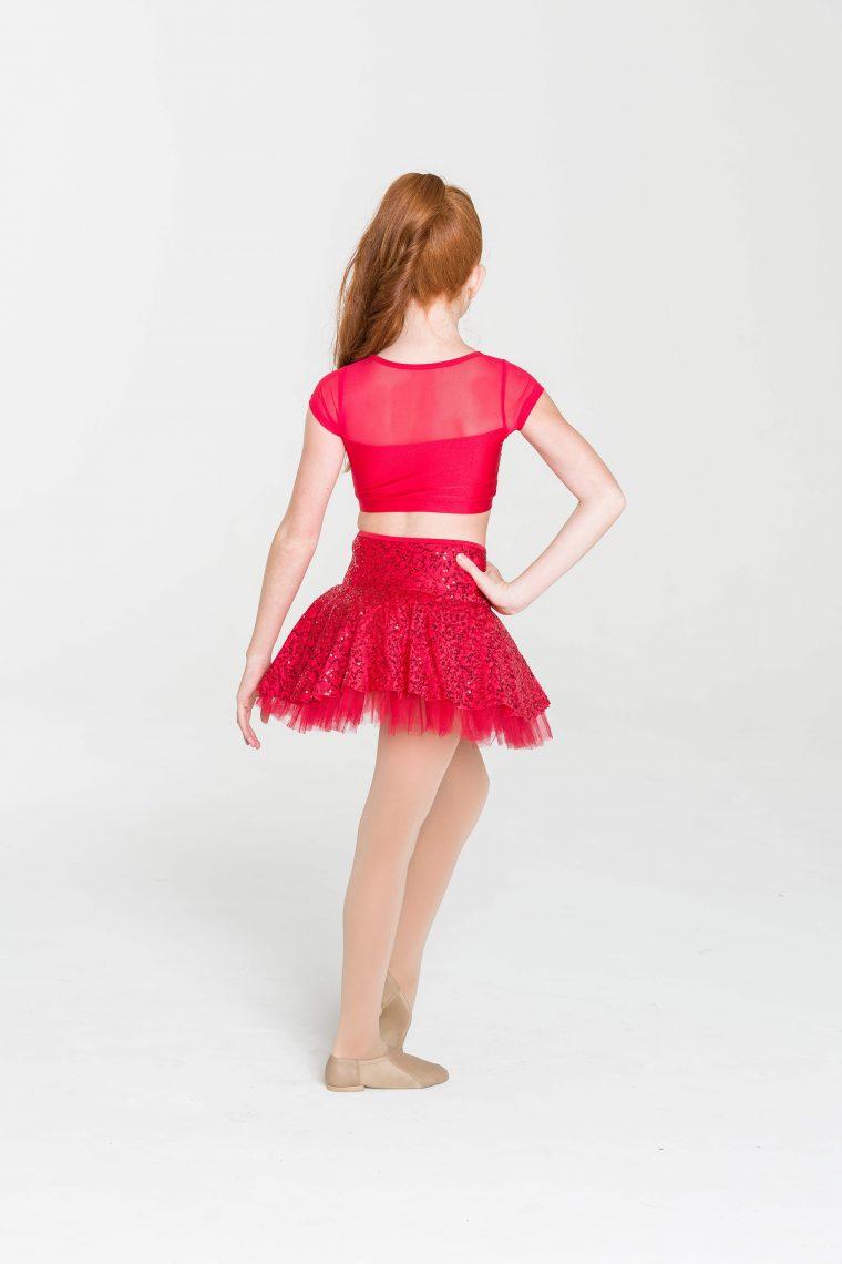 skater skirt red