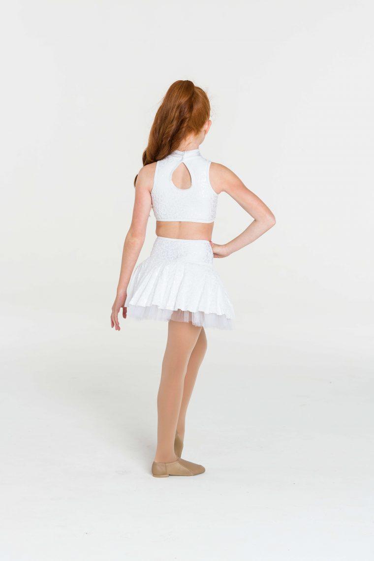 skater skirt white
