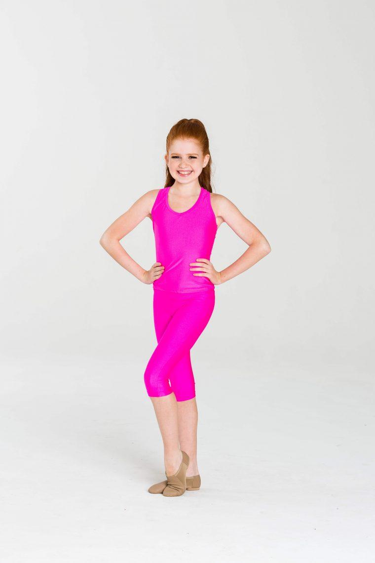 t-back singlet top hot pink