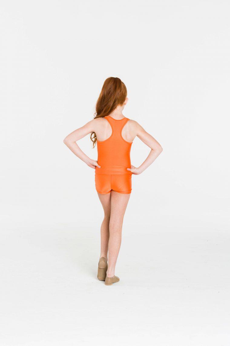 t-back singlet top orange