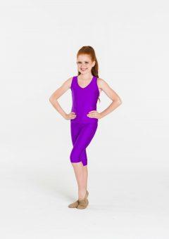 t-back singlet top purple