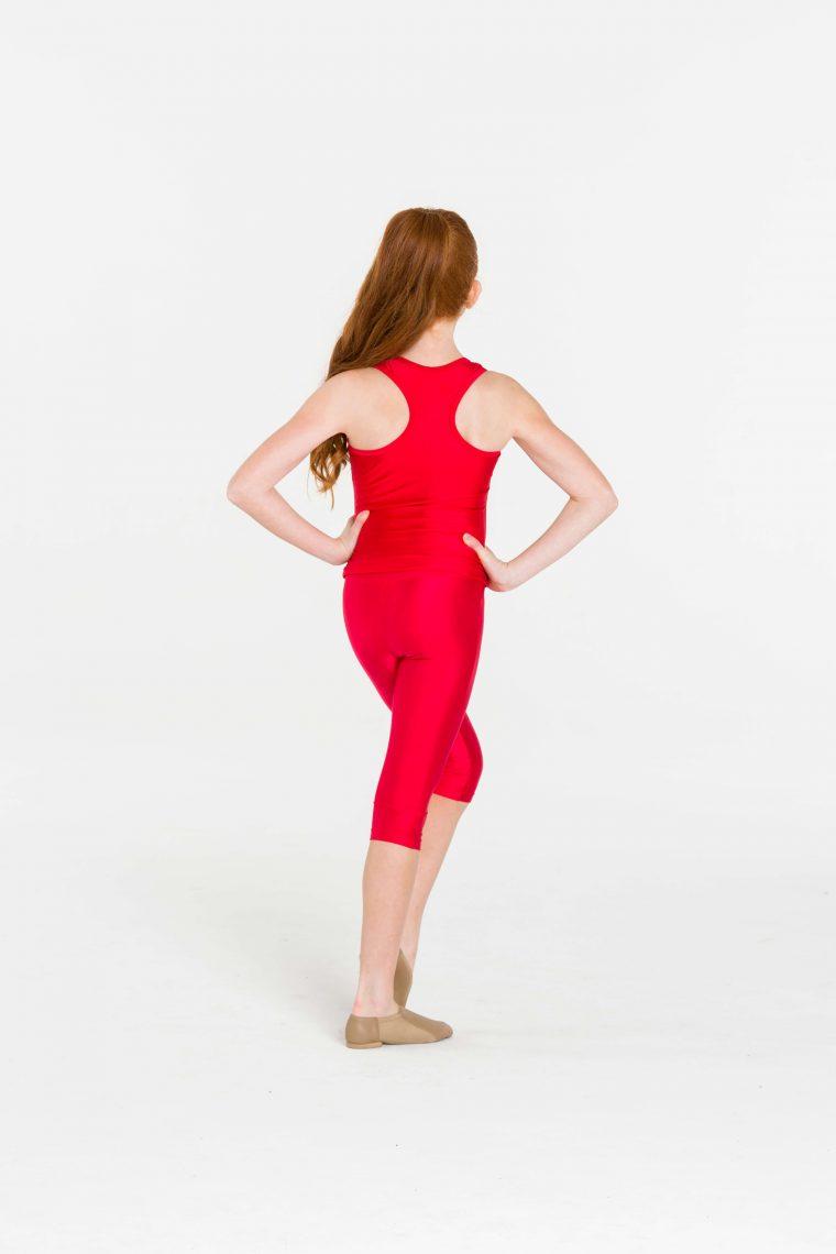 t-back singlet top red
