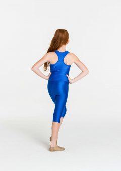t-back singlet top royal blue