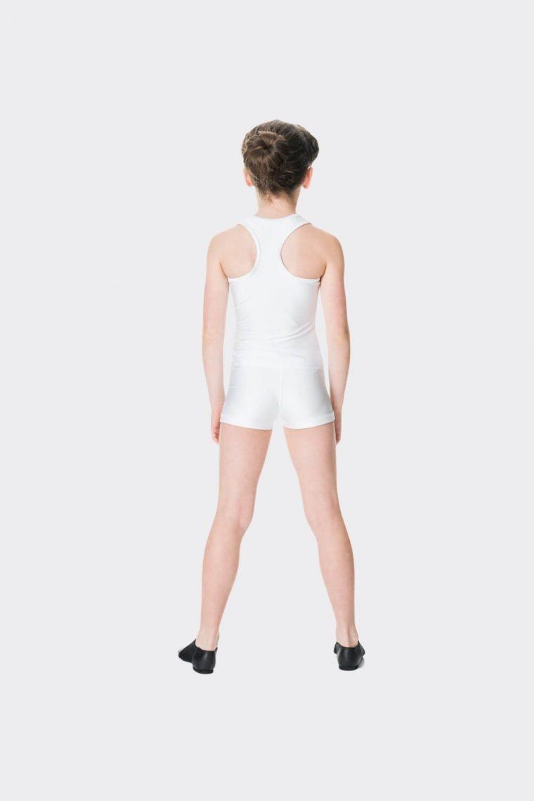t-back singlet top white