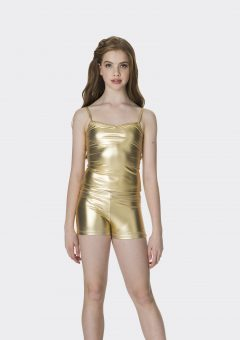 camisole singlet top metallic gold