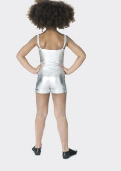 camisole single top metallic silver