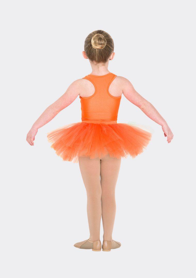 tutu skirt orange