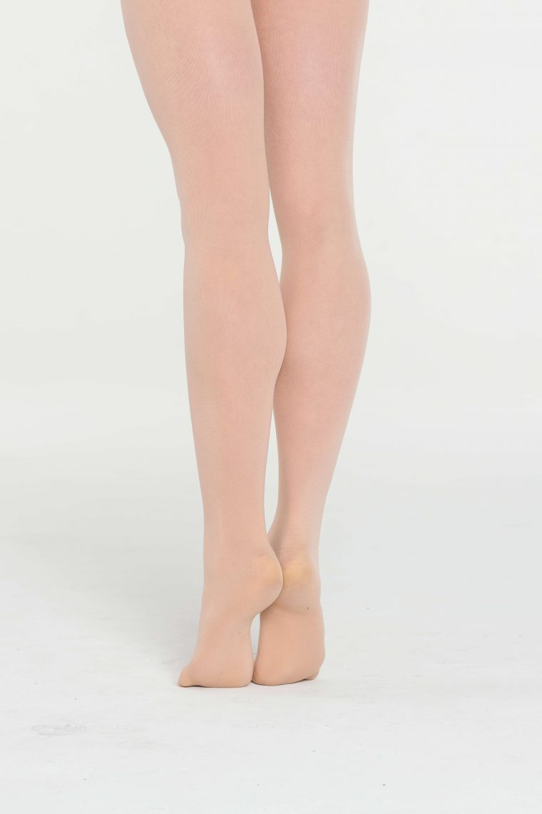 footed tights salmon pink