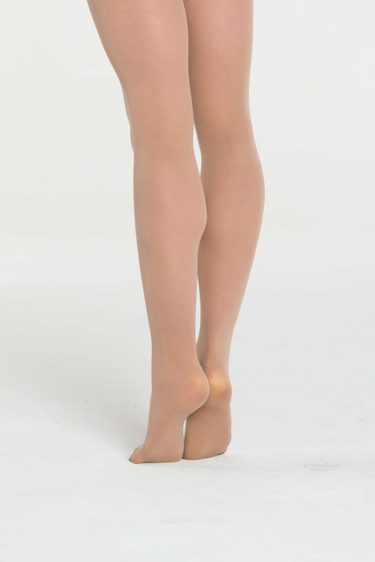 footed dance tights tan