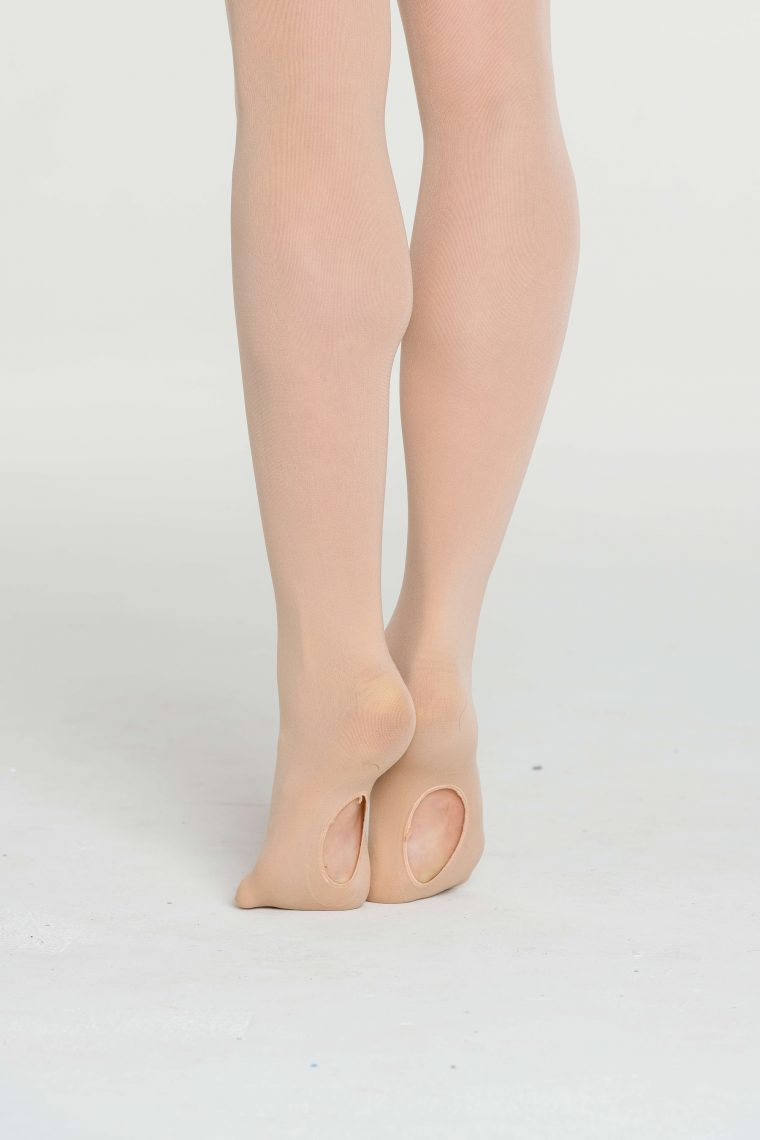 convertible dance ballet tights salmon pink