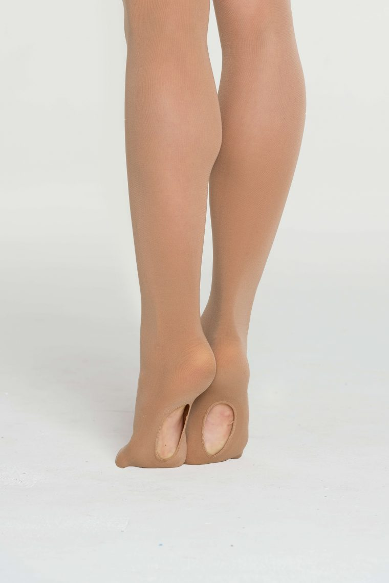convertible dance ballet tights tan