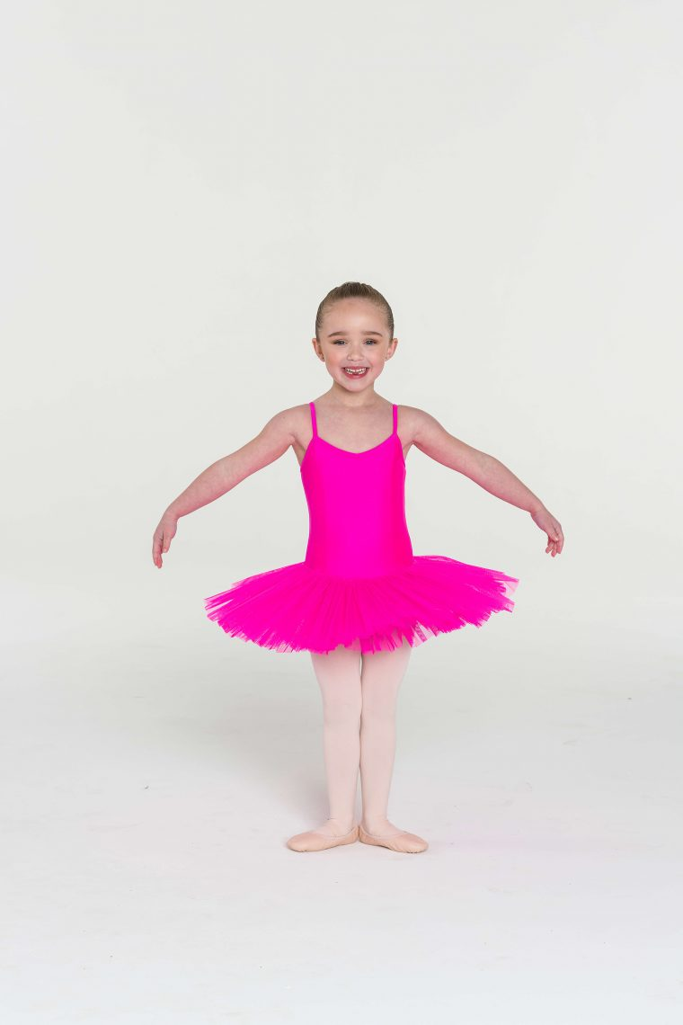 4 layer tutu hot pink