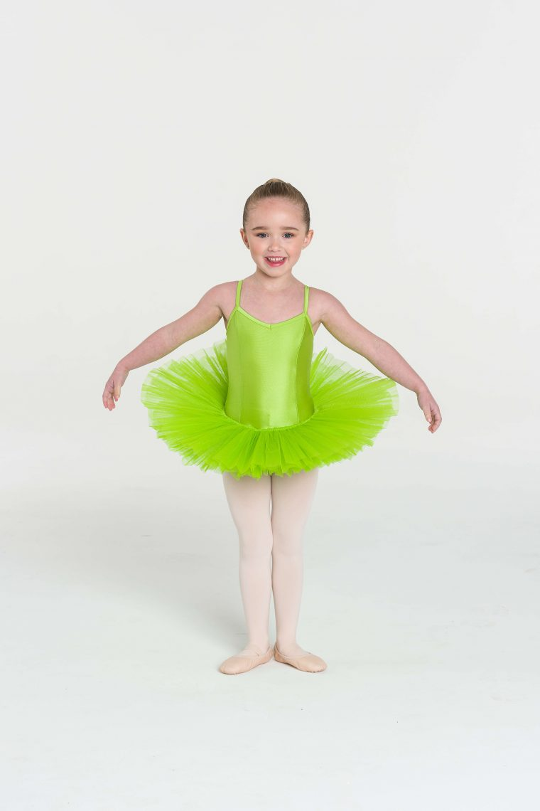 4 layer tutu lime