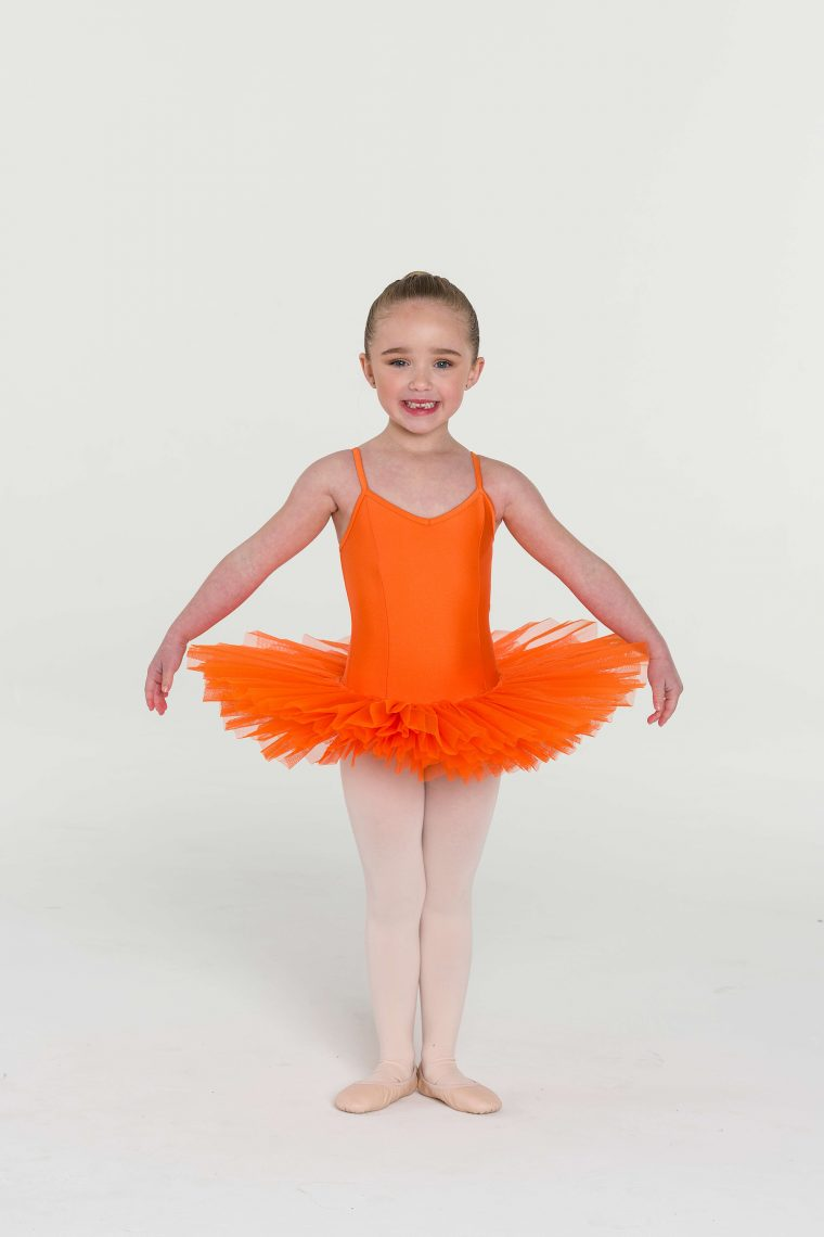 4 layer tutu orange