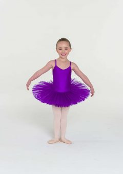 4 layer tutu purple