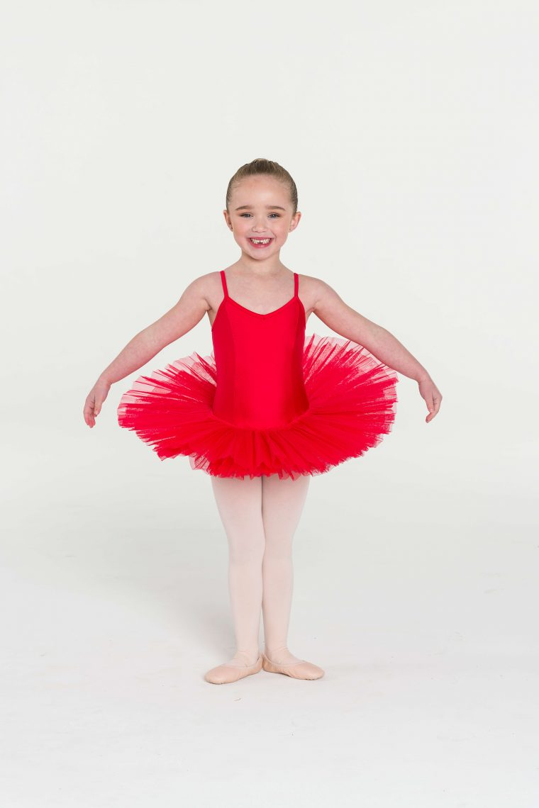 4 layer tutu red