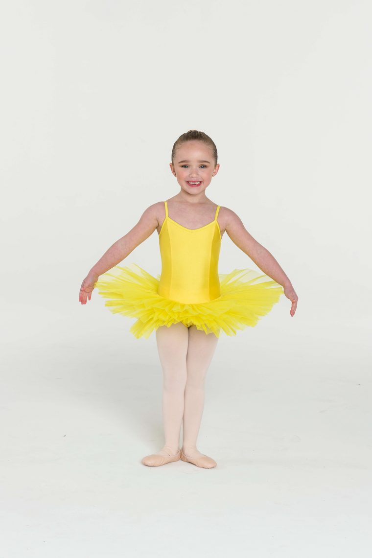 4 layer tutu yellow